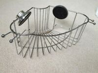 Chrome Shower Caddy with Suction Cup Attachment