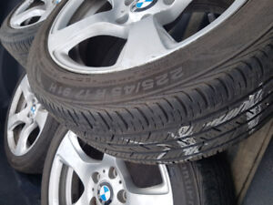BMW 3 series  rims and tires
