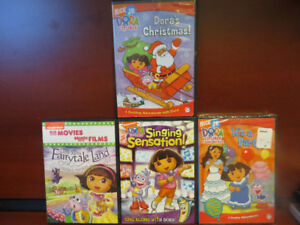 Lot of 4 Dora dvds