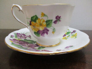 Spring Melody Queen Anne English Teacup and Saucer