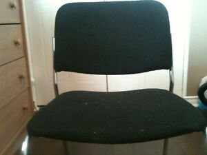 2 Black Soft Cushioned Chairs With Chrome Frame London Ontario image 1
