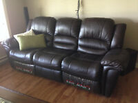 MILANO LEATHER reclining Sofa / love seat / couch / lazy boy