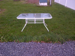 Glass-Topped Patio Table