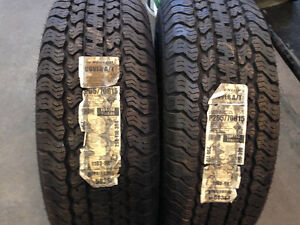 2 brand new P265/70R15 Dunlop Rover A/T tires