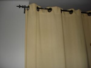 Ikea Beige Curtains and Rods