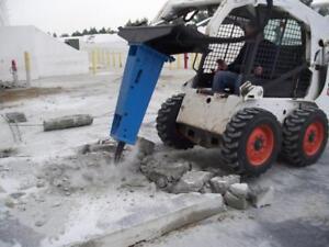 Skid Steer Hydraulic Breaker Hammer, 750 Lbs Impact, Fits All Skid Steer Loaders
