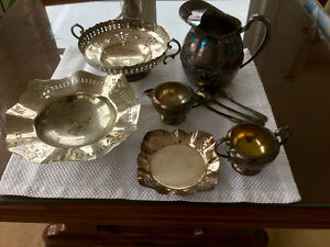 Silver plate and silverware