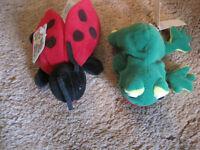 #4253 Lisa Ladybug Beanie Buddies & Floppy Friends Frankie  Make