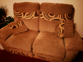 Brown 2 seater power electric recliner