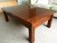 Dark Wood Solid Hardwood Coffee Table part of the Montana Range from Zocalo