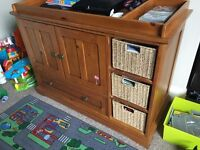 Mamas and Papas children's bedroom furniture - wardrobe, toddler bed and changing table