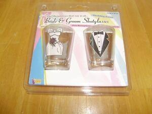 BRIDE AND GROOM  NOVELTY SHOT GLASSES Windsor Region Ontario image 1