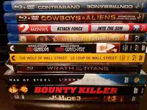 7 Blu-ray dvd's and 3 regular dvd's