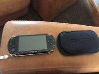 PSP with case and accessories