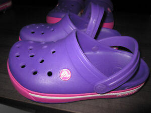 """Crocs"" (authentic Crocs), girls size 2, Brand New:REDUCED"