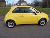 Fiat 500 1.2 S (yellow) 2010