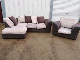 Fabric Corner sofa & armchair couches suite 🚚