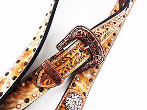 Belt one ear bridle set - Natural- different and cool looking