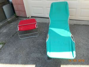 sewing progect.  2 vintage lounge chairs- one needs a new cover
