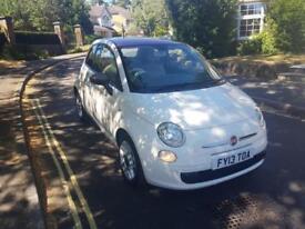 2013 Fiat 500 1.2 POP Start Stop 3 Dr Manual White RED ROOF 28,000 Miles 2 Keys