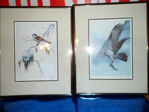Luke Raffin Prints.  $100 each.  Both for $150. Framed 5X7 print Prince George British Columbia image 1