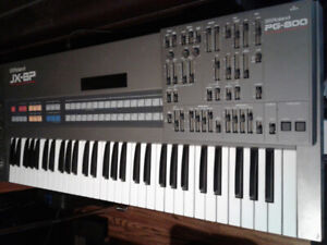 Roland JX 8P Synthesizer with PG800 controller