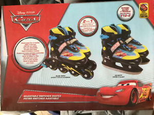 Boys cars ice skate and roller blade combo