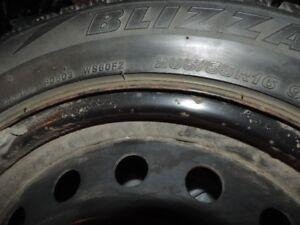 Set of 4 Blizzak Tires on Rims 205/55R16