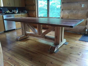 CUSTOM HAND CRAFTED FARMHOUSE HARVEST TABLES Peterborough Peterborough Area image 9