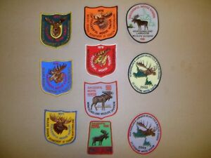 NEWFOUNDLAND MOOSE,CARIBOU,HUNTING PATCHES FOR SALE,TRADE