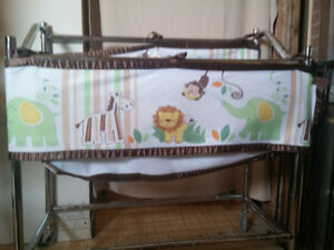 Breathable jungle Mesh Crib Liner