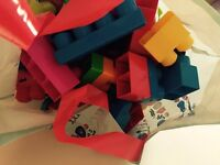 Big bag of Megabloks First Builders bricks