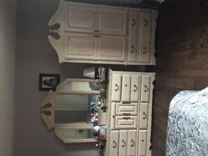 Bedroom dresser ,almira, 2 night tables in good conditions. $350