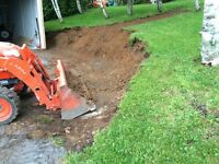 Retaining walls, excavation , dump trailer services