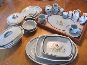 Buchan Stoneware 77 pieces Thistle pattern