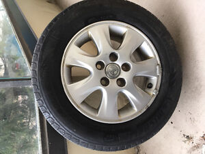 Michelin tires and alloy rims.