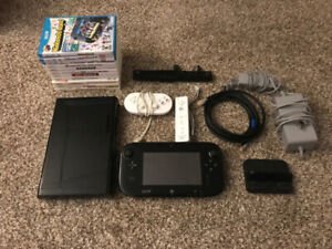 Wii U Console, Gamepad, 12 Games, Controllers and Cords!