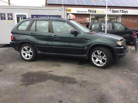 BMW X5 V8 4.4 SPOERT IN METALIC GREEN AND CREAM LEATHER INTERIOR