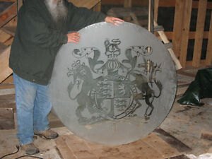 italian etched round glass