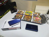 Nintendo DS Lite Colbalt Blue Boxed Case Games Chargers
