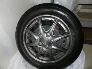 Four Toyota Yaris Rims and Tires