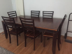 Modern 7 piece Dining Table Set for sale