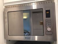 Brand new integrated Hotpoint Microwave combo grill