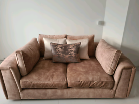 Sofology Emperor 2.5 Seater Sofa and Love Seat in Champagne Mix