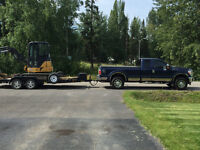 Truck and 18ft trailer for hire. Hot shot available