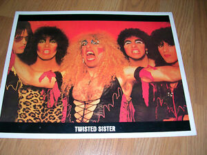 "1980's 8x10 picture of ""Twisted Sister"", sold in record stores."