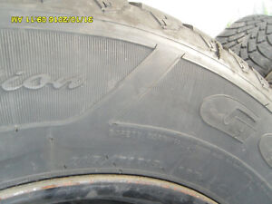 4 winter Tires on Rims 215 70 15 West Island Greater Montréal image 4