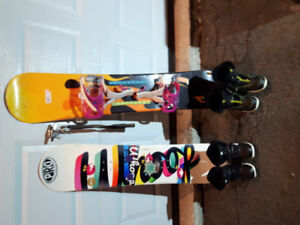Childrens Snowboards, boots and Bindings for sale