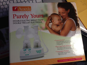 Ameda Purely Yours Double Electric Breast Pump + Custom Flanges