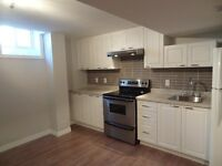 Brand new oversized, modern and bright 1 bdrm basement apartment